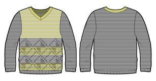 Πλεκτό πουλόβερ με το σχέδιο Στοκ Εικόνες