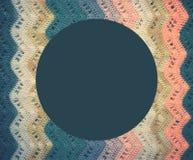Πλεκτό πολύχρωμο ύφασμα βαμβακιού στους κρύους μπλε τόνους Στρογγυλό blu Στοκ φωτογραφία με δικαίωμα ελεύθερης χρήσης