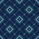 πλεκτό πρότυπο άνευ ραφής Δίκαιο πλέκοντας πουλόβερ Desig ύφους νησιών Στοκ εικόνα με δικαίωμα ελεύθερης χρήσης