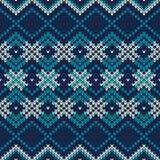 πλεκτό πρότυπο άνευ ραφής Εορταστικό και μοντέρνο σχέδιο πουλόβερ Στοκ εικόνες με δικαίωμα ελεύθερης χρήσης
