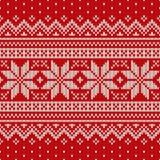 πλεκτό πρότυπο άνευ ραφής Σχέδιο πουλόβερ μαλλιού Στοκ Εικόνες