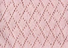 Πλεκτό ροζ χειμερινό υπόβαθρο σύστασης Στοκ εικόνα με δικαίωμα ελεύθερης χρήσης