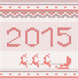 Πλεκτό σχέδιο καλής χρονιάς Στοκ φωτογραφία με δικαίωμα ελεύθερης χρήσης