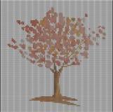 Πλεκτό σχέδιο με το δέντρο Στοκ Εικόνα
