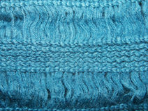 πλεκτό το σύσταση μπλε μοχέρ μαντίλι πλέκει Στοκ εικόνες με δικαίωμα ελεύθερης χρήσης