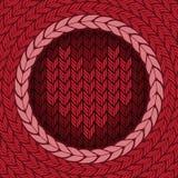 Πλεκτό υπόβαθρο με την καρδιά Στοκ εικόνες με δικαίωμα ελεύθερης χρήσης