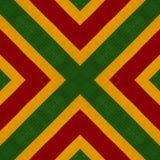 Πλεκτό υπόβαθρο ύφους χρωμάτων Reggae τσιγγελάκι, τοπ άποψη Κολάζ με την αντανάκλαση καθρεφτών Άνευ ραφής montage καλειδοσκόπιων Στοκ Εικόνες