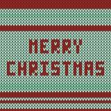 πλεκτό Χριστούγεννα πρότυπο Στοκ εικόνες με δικαίωμα ελεύθερης χρήσης
