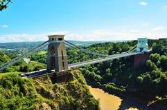 Πλευρά γεφυρών αναστολής του Clifton Στοκ Εικόνα
