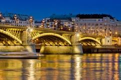 Πλευρά γεφυρών και παρασίτων της Margaret, Βουδαπέστη, Ουγγαρία στοκ εικόνες με δικαίωμα ελεύθερης χρήσης