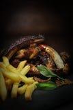 Πλευρά και τηγανητά ΙΙ χοιρινού κρέατος στοκ εικόνες
