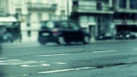 Πλευρά κυκλοφορίας ταχύτητας απόθεμα βίντεο