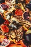 Πλευρά με το ψημένο στη σχάρα κρέας Στοκ Εικόνα