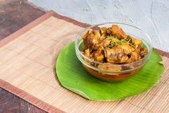 Πλευρό και ρύζι χοιρινού κρέατος με το πικάντικο κάρρυ Στοκ Εικόνα
