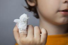 Πληγή, εστίαση στο δάχτυλο Στοκ φωτογραφία με δικαίωμα ελεύθερης χρήσης