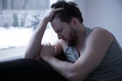Πληγωμένος νεαρός άνδρας Στοκ Φωτογραφίες