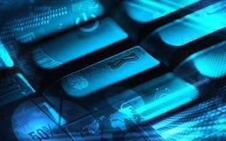 Πληκτρολόγιο με τα καμμένος διαγράμματα Στοκ φωτογραφία με δικαίωμα ελεύθερης χρήσης