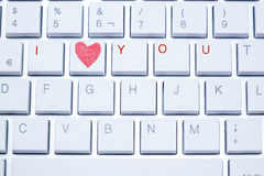 Πληκτρολόγιο με την αγάπη ι εσείς Στοκ φωτογραφία με δικαίωμα ελεύθερης χρήσης