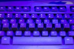 Πληκτρολόγιο με την ασφάλεια κλειδιών που ανυψώνεται Στοκ φωτογραφία με δικαίωμα ελεύθερης χρήσης