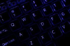 Πληκτρολόγιο με τον μπλε τονισμό Στοκ Εικόνα