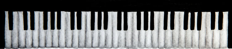 Πληκτρολόγιο πιάνων στο άσπρο υπόβαθρο Στοκ φωτογραφίες με δικαίωμα ελεύθερης χρήσης