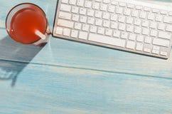 Πληκτρολόγιο στον πίνακα παραλιών Στοκ φωτογραφίες με δικαίωμα ελεύθερης χρήσης