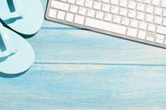 Πληκτρολόγιο στον πίνακα παραλιών Στοκ φωτογραφία με δικαίωμα ελεύθερης χρήσης