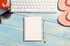 Πληκτρολόγιο στον πίνακα παραλιών Στοκ εικόνα με δικαίωμα ελεύθερης χρήσης