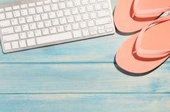 Πληκτρολόγιο στον πίνακα παραλιών Στοκ εικόνες με δικαίωμα ελεύθερης χρήσης