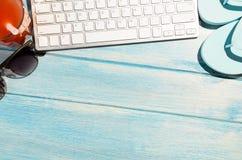 Πληκτρολόγιο στον πίνακα παραλιών Στοκ Εικόνες