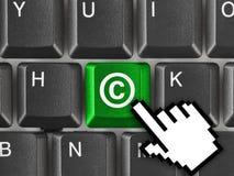 Πληκτρολόγιο υπολογιστών με το σύμβολο πνευματικών δικαιωμάτων Στοκ Φωτογραφίες
