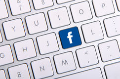 Πληκτρολόγιο Facebook Στοκ εικόνα με δικαίωμα ελεύθερης χρήσης