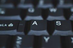 Πληκτρολόγιο PC - που χρησιμοποιείται για να εισαγάγει τα στοιχεία στον υπολογιστή Αποτελείται από το πλαστικό και είναι συνήθως  Στοκ Φωτογραφία