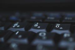 Πληκτρολόγιο PC - που χρησιμοποιείται για να εισαγάγει τα στοιχεία στον υπολογιστή Αποτελείται από το πλαστικό και είναι συνήθως  Στοκ Φωτογραφίες