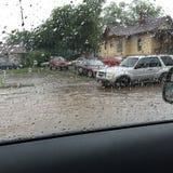 Πλημμυρίζοντας γειτονιά Στοκ Εικόνα
