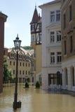 Πλημμυρίζοντας σε Meyssen, Γερμανία Στοκ φωτογραφία με δικαίωμα ελεύθερης χρήσης