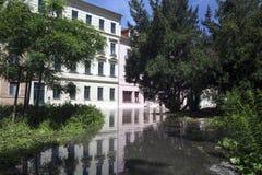 Πλημμυρίζοντας σε Meyssen, Γερμανία Στοκ εικόνες με δικαίωμα ελεύθερης χρήσης