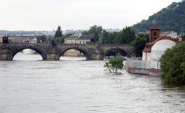 Πλημμυρίζοντας στην Πράγα, Δημοκρατία της Τσεχίας Στοκ εικόνα με δικαίωμα ελεύθερης χρήσης