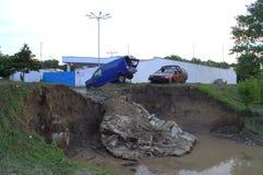 Πλημμυρίζοντας στις 19 Ιουνίου της Βάρνας, Βουλγαρία Στοκ Φωτογραφία