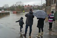 Πλημμυρίζοντας στο Γιορκσάιρ, Αγγλία Στοκ Εικόνες