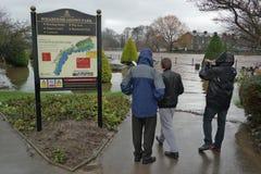 Πλημμυρίζοντας στο Γιορκσάιρ, Αγγλία Στοκ φωτογραφία με δικαίωμα ελεύθερης χρήσης