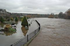 Πλημμυρίζοντας στο Γιορκσάιρ, Αγγλία Στοκ εικόνες με δικαίωμα ελεύθερης χρήσης
