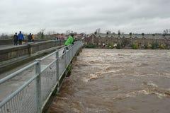Πλημμυρίζοντας στο Γιορκσάιρ, Αγγλία Στοκ Φωτογραφία