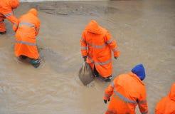 πλημμυρισμένα σπίτια Στοκ εικόνες με δικαίωμα ελεύθερης χρήσης