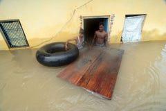 Πλημμυρισμένη Ινδία Στοκ Φωτογραφίες
