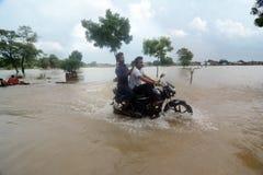 Πλημμυρισμένη Ινδία Στοκ φωτογραφίες με δικαίωμα ελεύθερης χρήσης