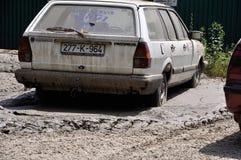 Πλημμυρισμένη πόλη από Βοσνία-Ερζεγοβίνη Πόλη Maglaj Στοκ φωτογραφία με δικαίωμα ελεύθερης χρήσης