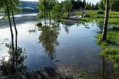 πλημμυρισμένο μονοπάτι Στοκ εικόνες με δικαίωμα ελεύθερης χρήσης