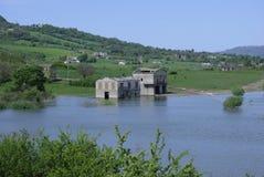 πλημμυρισμένο σπίτι Στοκ Εικόνες