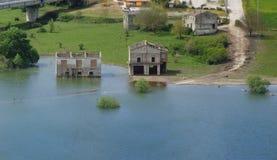 πλημμυρισμένο σπίτι Στοκ Φωτογραφίες
